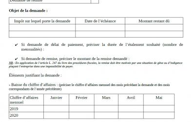 CORONAVIRUS : le formulaire pour les aides aux entreprises